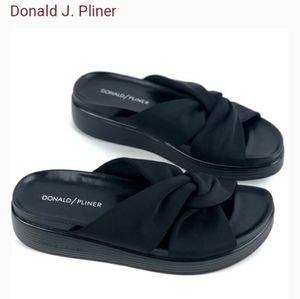 Donald Pliner Folley Black Knot Sandal Shoes Slide